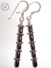 Hematite & Silver Earrings